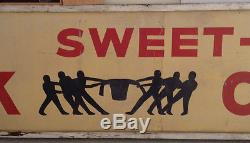 Vintage Sweet-Orr Work Clothes Overalls Blue Jeans 16 foot Headquarters Sign Tin