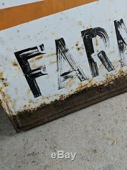 Vintage Tin Golden Sun Feed Feeds Farm Sign Agriculture Advertising 94 x 46 rust