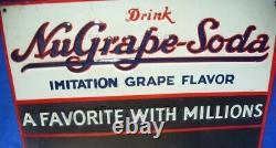 Vintage Tin Nu-grape Sign Nugrape Nu Grape Chalkboard Chalk Board Soda Favorite