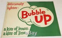 Vintage Tin Over Cardboard Bubble Up Lemon Lime Soda Sign