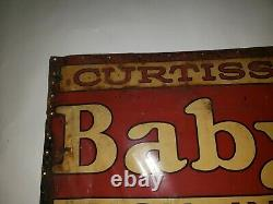Vintage Tin Tacker Advertising Sign Baby Ruth Candy 10x28 Curtiss Candies