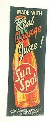 Vintage Tin-sun Spot-soda Advertising Sign 1947- Original Multi Color-rare-nos