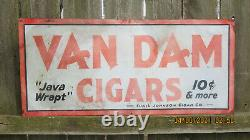Vintage Van Dam Cigar Tin Sign