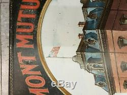 Vintage Vermont Mutual Fire Insurance Original Tin Sign 1920s