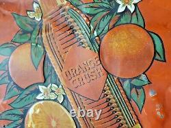 Vintage Very Rare Embossed Orange Crush Tin Sign 59 X 20 St-thomas 20's 30's