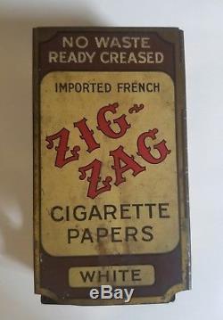 Vintage Zig Zag Tin Cigarette Tobacco Paper Dispenser Advertising Sign
