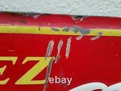 Vintage coca-cola push kiker plate TIN SIGN display soda