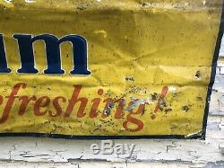Vtg 1930s Beech-Nut Chewing Gum Embossed Tin Ad Sign General Store Display 34.5