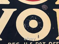 Vtg 1935 Havoline Motor Oil Rack Sign Tin Double Sided DST 21.25 Texaco Gas Oil