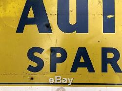 Vtg 1950s AUTO-LITE Spark Plugs Tin Sign 30 Gas & Oil Station Country Store