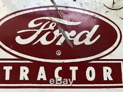 Vtg 1950s FORD TRACTOR & DEARBORN FARM EQUIPMENT Tin Sign 22 Ford Farming Rare