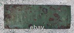 Vtg 30s Blue Bird Grape Soda Sign 27.5 Embossed Tin Citrus Products Co. Chicago