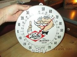 Vtg. Advertising Fred Koch Brewery Beer Tin Bubble Thermometer Dunkirk Ny Sign