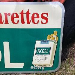Vtg Kool Cigarettes Willie Penguin Metal 1960's Store Advertising Sign Tin RARE