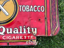 Vtg MODEL Smoking Tobacco Sign Tin Tacker 18 X 15 United States Tobacco Co