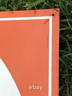 Vtg NOS 1960s Norka Orange Soda Pop Sign 24 Tin Akron Ohio Soda Advertising NRM