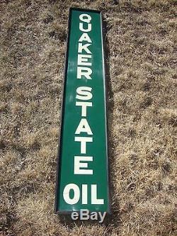 Vtg Orig 1930 S 40 S Framed Quaker State Oil Gas Vertical