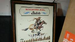 WINCHESTER Advertising BOARD ORIGINAL BOXED TIN Sign with shipping box