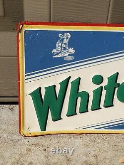 White Rock Beverages Vintage Soda Embossed Tin Sign Hard to find