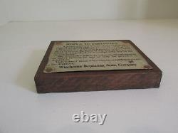Winchester Repeating Arms Co. Notice Tin Sign Employee Factory Original RARE 5