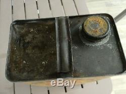 XXL SHELL MOTOR OIL VINTAGE 1940s BIG 5kg TIN CAN ANTIQUE GARAGE SIGN PETROL